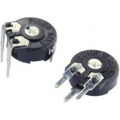 PIHER Kohleschicht-Trimmer liegend PT-10 100 Ω - 5 KΩ ± 20% 200 V 0,15 W 6-Werte je 2Stück