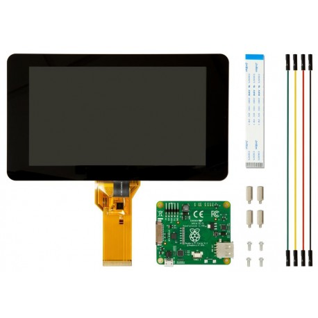 "7"" Touchscreen für Raspberry Pi mit 10 Finger-Multi-Touch"