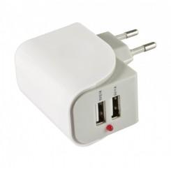 Allnet Flepo Netzteil USB 2-fach 100V/240V-2A