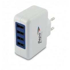 Allnet Flepo Netzteil USB 4-fach 100V/240V-4A