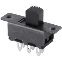Schiebeschalter löt Wechsler 0,5A 125VAC 2-polig
