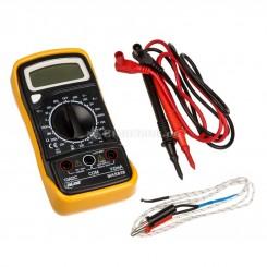 Multimeter mit Temperatursensor und Transistormessung