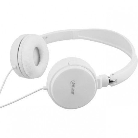 Headset mit Kabelmikrofon, weiß