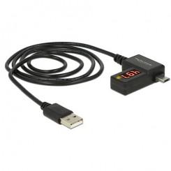 Delock USB-Messgerät für Strom- und Spannungsanzeige