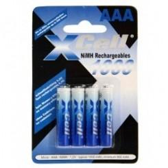 XCell NiMH 1000mAh AAA 4-er Pack