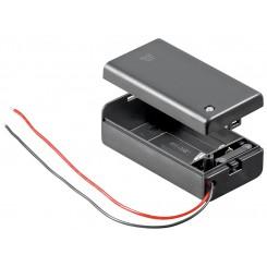 Batteriehalter , 1x 9V Block mit Schalter