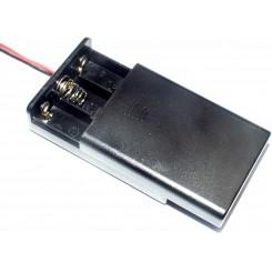 Batteriehalter 3 x Micro AAA geschlossen 15 cm Anschlusskabel