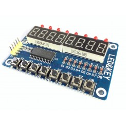 LED&KEY Modul für Arduino 8 Ziffern , 8 LEDs , 8 Mikrotaster