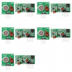 5x Funk-Sender/Empfängermodul 433MHz für Arduino