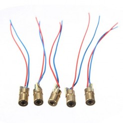 5x 650nm 6mm 4.5V 5mW Rot Laserdiode