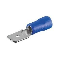 Flachstecker - blau 6.4 BL 10-er