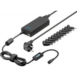 Notebook-Netzteil Automatik 15-24 V 120 W inkl. USB + 10 DC-Adapter