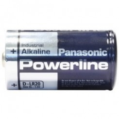 2x Panasonic PowerLine Alkali Mono D 1,5 V