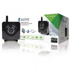 Unbewegliche IP-Kamera Innenbereich VGA Schwarz