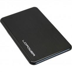 "USB 2.0 Gehäuse 6,35cm (2,5""), SATA, Alu, schwarz"