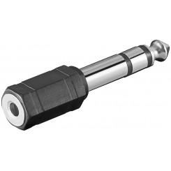 Klinke 6,35 mm-Stecker Stereo - Klinke 3,5 mm-Buchse Stereo