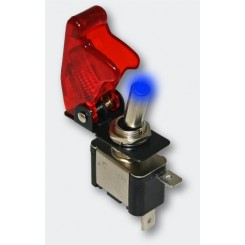 Kill-Switch Kippschalter blaue LED & Rote-Kappe