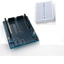 Arduino Uno Prototype Shield V3 + Mini Breadboard