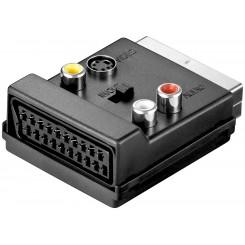 Scart-Adapter - 3xCinchbuchse und 4-pol. mini DIN Buchse