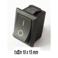 miniatur Wippschalter 10x15mm
