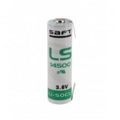 Saft Batterie Lithium 3,6 V 2600 mAh Mignon AA Lötfahne