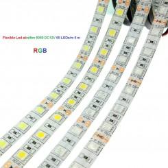 SMD-LED-Strip , 300 LEDs RGB Länge 5 m, weisser Untergrund