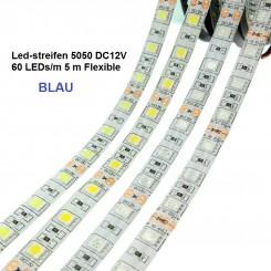 SMD-LED-Strip , 300 LEDs BLAU Länge 5 m, weisser Untergrund