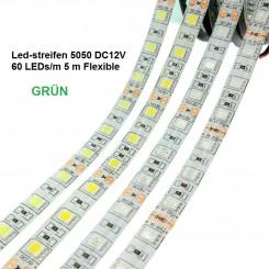 SMD-LED-Strip , 300 LEDs Grün Länge 5 m, weisser Untergrund