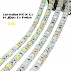 SMD-LED-Strip , 300 LEDs Gelb Länge 5 m, weisser Untergrund