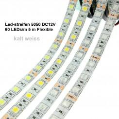 SMD-LED-Strip , 300 LEDs kalt Weiss Länge 5 m, weisser Untergrund