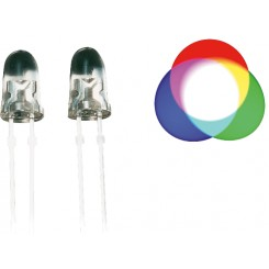Rainbow LED 5 mm, 1200 ... 2000mcd, 2-Pin, RGB