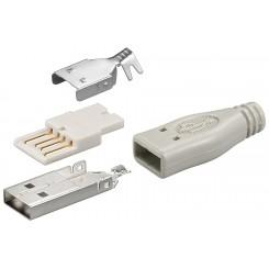USB A-Stecker zum selber löten inkl. Tülle