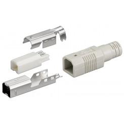 USB B-Stecker zum selber löten inkl. Tülle