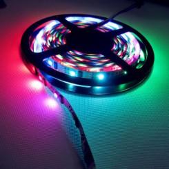 RGB LED Strip mit 160x WS2801 5050 5m