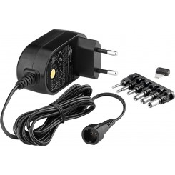 3 V - 12 V Universal-Netzteil - inkl. 6 DC-Adapter - max. 12 W und 1 A