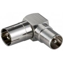 Winkel-Adapter: Koax-Buchse - Koax-Stecker 90°