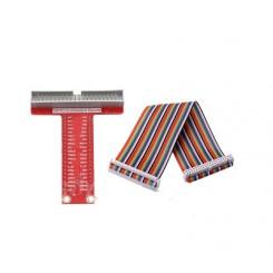 T-Cobbler Raspberry Pi-Breakout Pi B+/2/3B+ montiert