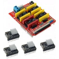 3D CNC Schild für Arduino Uno V3 inkl. 4x A4988
