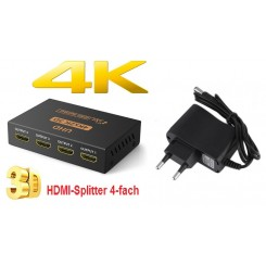 HDMI Splitter 4-fach 3D HDCP 4K UHD Full HD