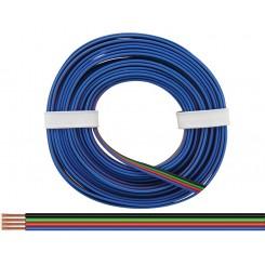 Vierlingslitze für RGB LED Streifen 4 x 0,14 mm² 5 m Ring