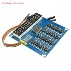 LED&KEY Modul für Arduino 8 Ziffern ,16 Mikrotaster