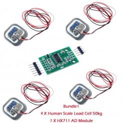Arduino Digitale Wägesensor HX711 bis 50kg x4