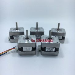 5x Nema 17 Schrittmotor 17HS3401