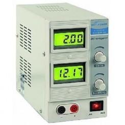 Labornetzgerät regelbar 0-15 V, 2 A, 2x beleuchtete LCD,s