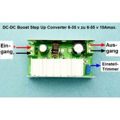 Step Up Converter 6 ~ 35 V zu 6 ~ 55 V 10Amax.