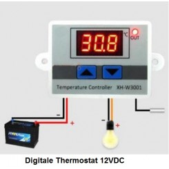 Digital Thermostat 12VDC