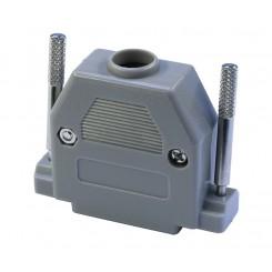 Posthaube für D-Sub Steckverbinder 25 polig mit langen Rändelschrauben Kunststoff