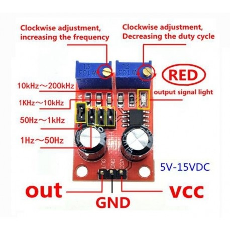 NE555 Frequenzumrichter PWM Adjustable frequency Puls Generator