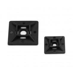 Kabelbinderhalter 19 x 19 mm selbstklebend schwarz 10 Stk. schwarz