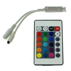 Mini RGB LED IR Controller inkl. 24Key Fernbedienung